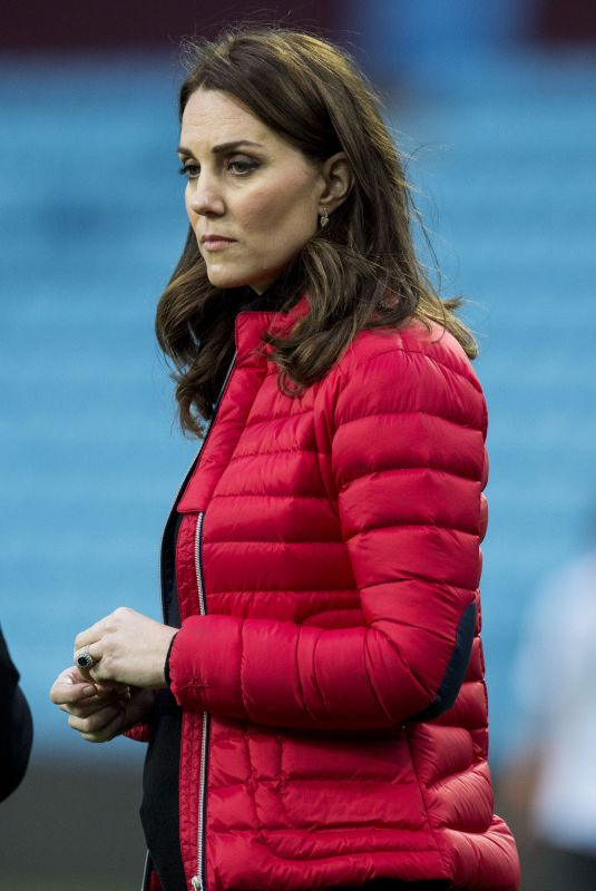 KATE MIDDLETON at Aston Villa Football Club in Birmingham 11/22/2017