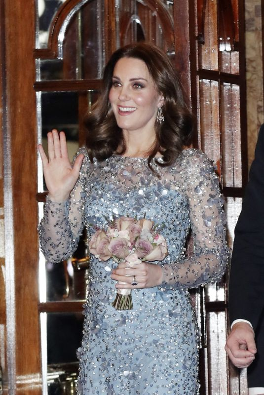 KATE MIDDLETON at Royal Variety Performance at Palladium Theatre in London 11/24/2017