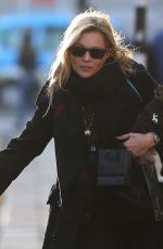KATE MOSS Out with Her Dog in London 11/23/2017