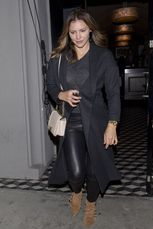 KATHARINE MCPHEE and David Foster at Craigs Restaurant in West Hollywood 11/06/2017