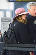 KATHARINE MCPHEE and David Foster at JFK Airport in New York 11/27/2017