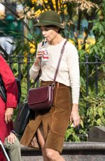 KATIE HOLMES Out and About in New York 11/05/2017