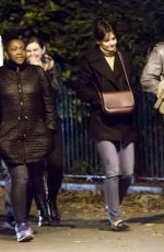 KATIE HOLMES Out in New York 11/01/2017