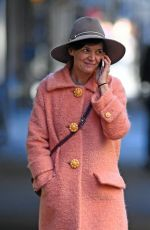 KATIE HOLMES Out Shopping in New York 11/28/2017
