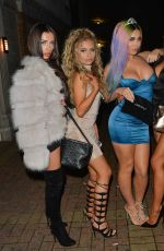 KATIE SOLOMON Celebrates Her Birthday with Miss Swimsuit UK Girls in Watford 11/25/2017