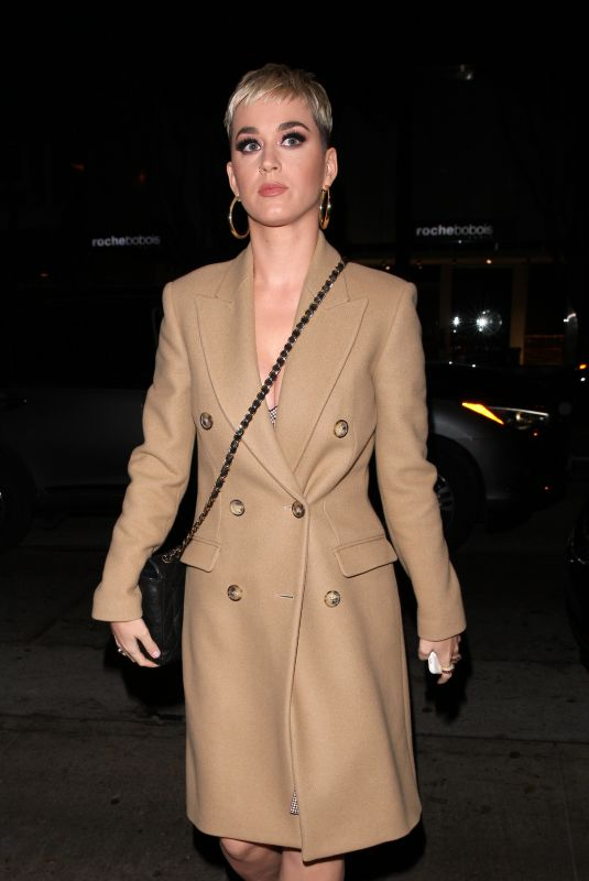 KATY PERRY Arrives at Madeo Restaurant in West Hollywood 11/20/2017