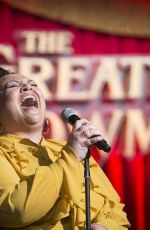 KEALA SETTLE at The Greatest Showman Press Luncheon in Beverly Hills 11/28/2017