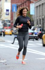 KELLY BENSIMON Out Jogging in New York 11/16/2017