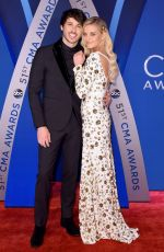 KELSEA BALLERINI at 51st Annual CMA Awards in Nashville 11/08/2017
