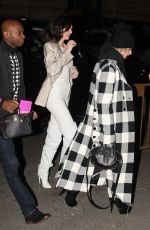 KENDALL JENNER and HAILEY BALDWIN Night Out in New Yrk 11/20/2017