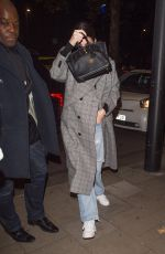 KENDALL JENNER Arrives at China Tang in London 11/16/2017