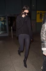 KENDALL JENNER at Heathrow Airport in London 11/16/2017