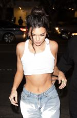 KENDALL JENNER Celebrates Her Birthday at Petite Taqueria in West Hollywood 11/02/2017