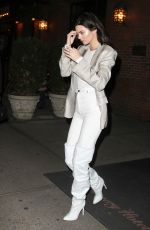 KENDALL JENNER Leaves Bowery Hotel in New York 11/20/2017