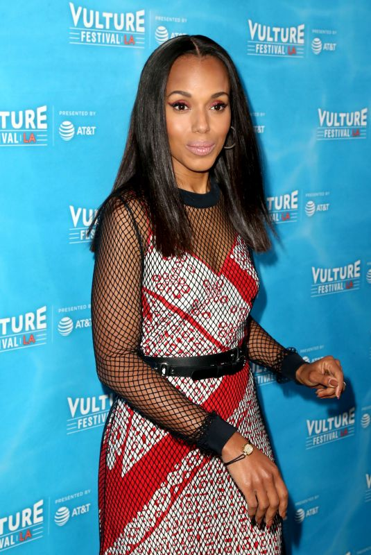 KERRY WASHINGTON at Scandal Panel at Vulture Festival in Los Angeles 11/18/2017