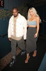 KIM KARDASHIAN and Kanye West at Kendall