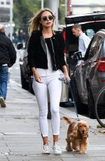 KIMBERLEY GARNER and IANTHE ROSE COCHRANE Out on Kings Road in Chelsea 11/10/2017