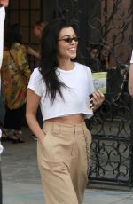 KOURTNEY KARDASHIAN Leaves Alfred Tea Room in West Hollywood 11/25/2017