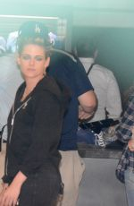 KRISTEN STEWART at Game 6 of the World Series in Los Angeles 10/31/2017