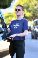 KRISTEN STEWART Leaves a Spa in Los Angeles 11/06/2017