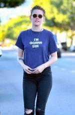 KRISTEN STEWART Leaves a Spa in Los Angeles 11/06/2017