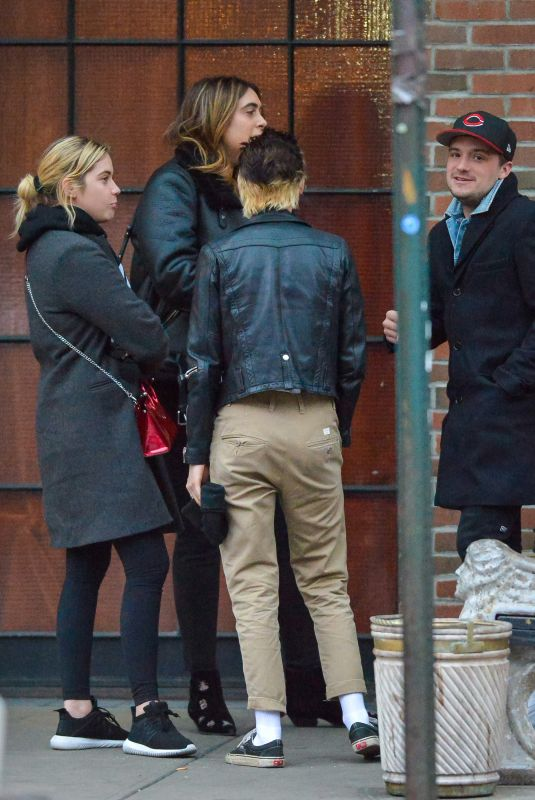 KRISTEN STEWART, STELLA MAXWELL, ASHLEY BENSON and Josh Hutcherson Out in New York 11/15/2017