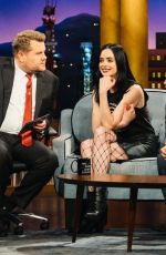 KRSTEN RITTER at Late Late Show with James Corden in New York 11/22/2017
