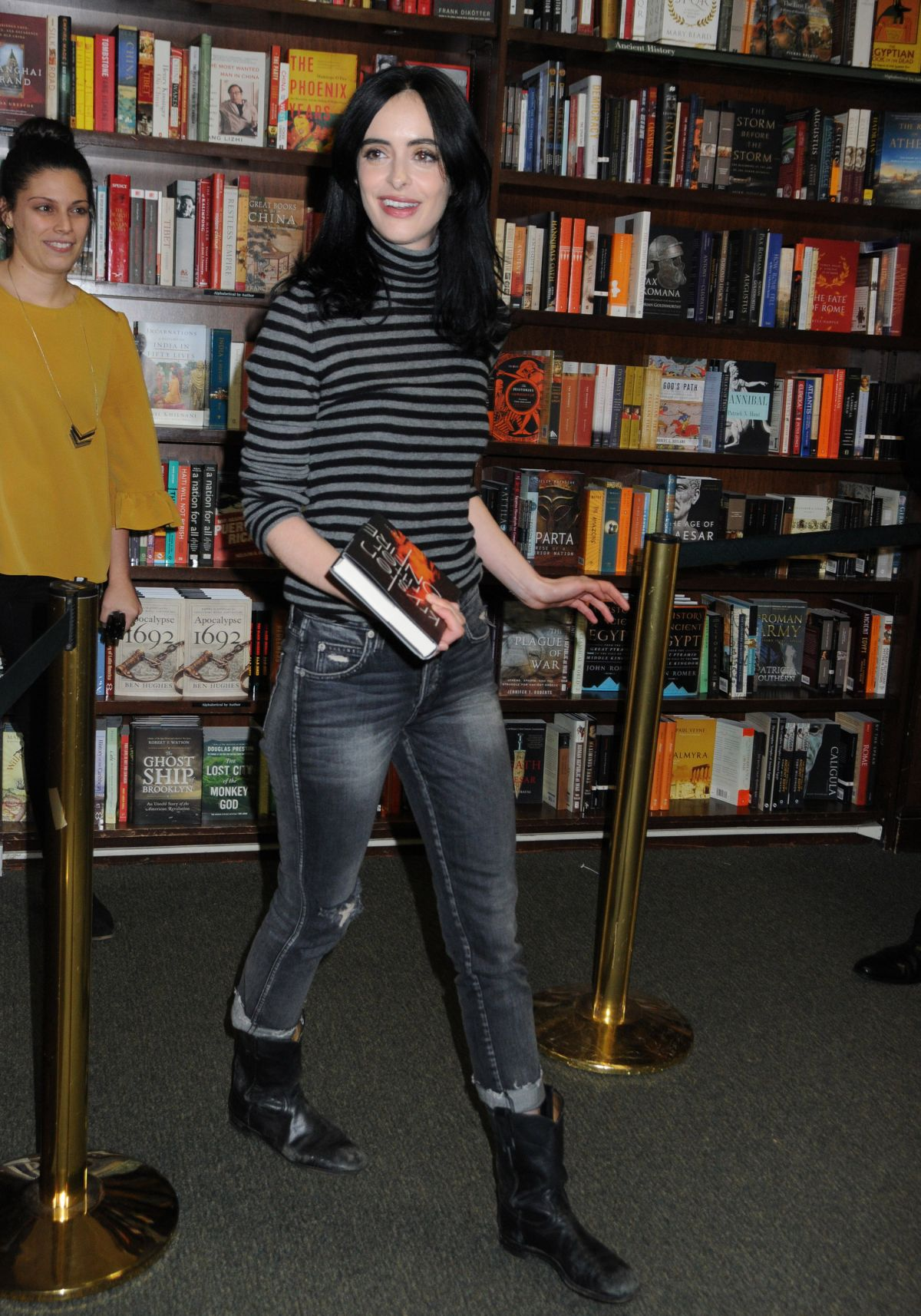 KRYSTEN RITTER at Her New Book Bonfire Fan Event at Barnes ...