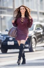 KRYSTLE LINA Out and About in Beverly Hills 11/02/2017