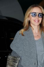 KYLIE MINOGUE Arrives at Her Hotel in London 11/14/2017