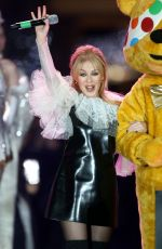 KYLIE MINOGUE Performs at Covent Garden Christmas Lights Turn On in London 11/14/2017