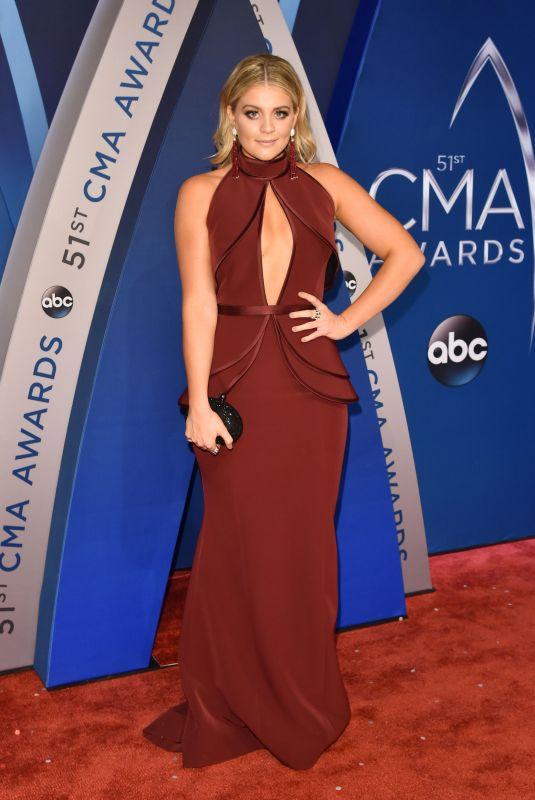 LAUREN ALAINA at 51st Annual CMA Awards in Nashville 11/08/2017