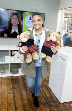 LAURIE HERNANDEZ at  #givethanks Holiday Pop-up in New York 11/28/2017
