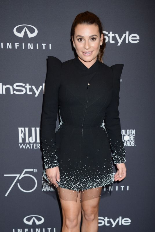 LEA MICHELE at HFPA & Instyle Celebrate 75th Anniversary of the Golden Globes in Los Angeles 11/15/2017