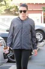 LEA MICHELE Shopping at Brentwood Country Mart 11/12/2017