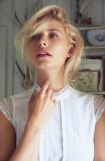 LENA GERCKE on the Set of a Photoshoot, 2017