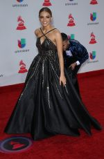 LESLIE GRACE at Latin Grammy Awards 2017 in Las Vegas 11/16/2017