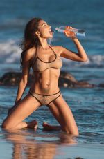 LEXY in Bikini on the Set of a Photoshoot for 138 Water in Malibu 11/07/2017