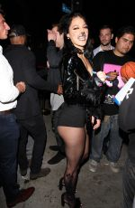 LEXY PANTERRA Arrives at Halloween Party at Poppy Club in West Hollywood 10/31/2017
