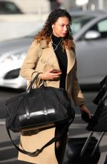 LILLY BECKER at Heathrow Airport in London 11/10/2017