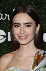 LILY COLLINS at 2017 GO Campaign Gala in Hollywood 11/18/2017
