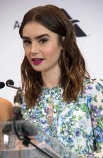 LILY COLLINS at 2018 Film Independent Spirit Awards Press Conference in Los Angeles 11/21/2017