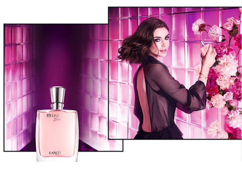 Lily Fragrance Collins For Miracle Lancome New Secret Campaign LUzMVSpqG