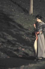 LILY COLLINS on the Set of Tolkien in Liverpool 11/01/2017