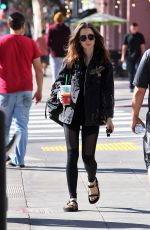 LILY COLLINS Out and About in Los Angeles 11/18/2017
