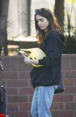 LILY COLLINS Out in Beverly Hills 11/26/2017