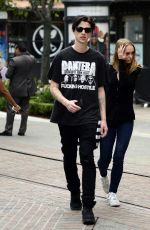LILY-ROSE DEPP and Ash Stymest Out Shopping in Los Angeles 10/30/2017
