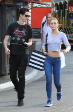 LILY-ROSE DEPP Shopping at The Grove in West Hollywood 11/03/2017