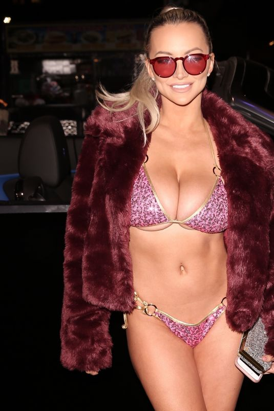 LINDSEY PELAS at Treats! Magazine 7th Annual Halloween Party in Los Angeles 10/31/2017