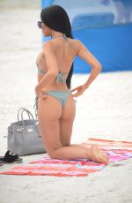LISA OPIE in Bikini at a Beach in Miami 11/09/2017